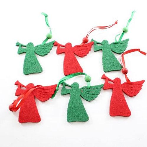 Felt Angel Decoration pack of 6