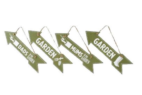 Garden Arrow Sign