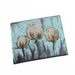 Tulip Design Glass Coaster