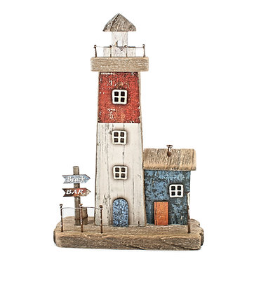 Rustic Lighthouse Plaque
