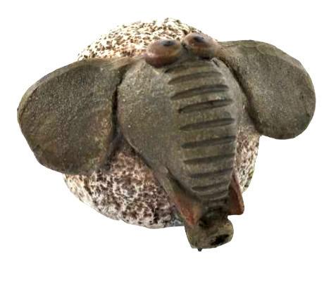 Rustic Ceramic Elephant
