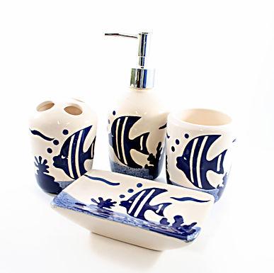 Ceramic Fish Bathroom Set