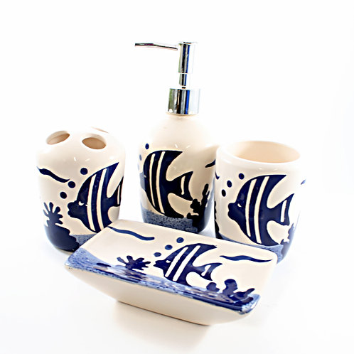 Ceramic Fish Bathroom Set