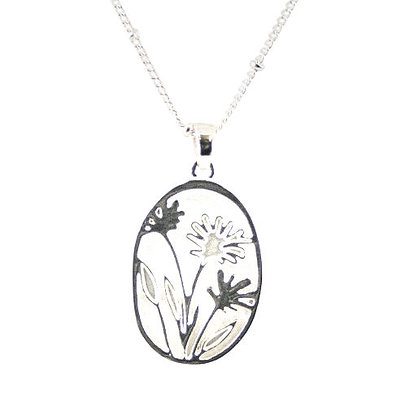 Oval Flower Necklace