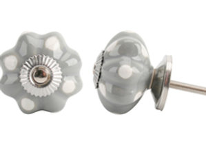 Flower Shape Grey Drawer Pull