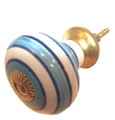 Round Ceramic Painted Drawer Pull