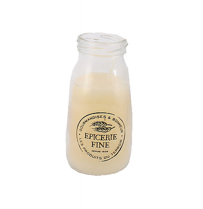 Candle in Milk Bottle