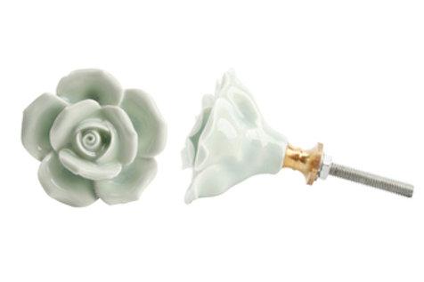 Ceramic Rose Drawer Pull