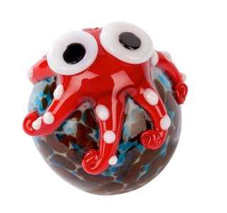 Glass Octopus on Ball