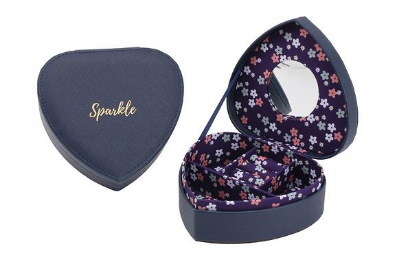 Jewellery Heart Box Blue