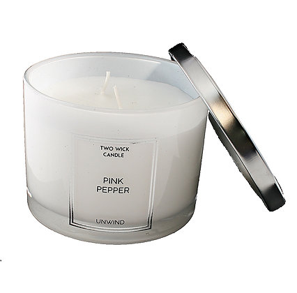 Candle 2 Wick Pink Pepper