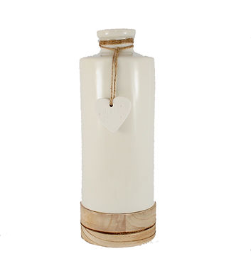 Large Ceramic Bottle with Heart