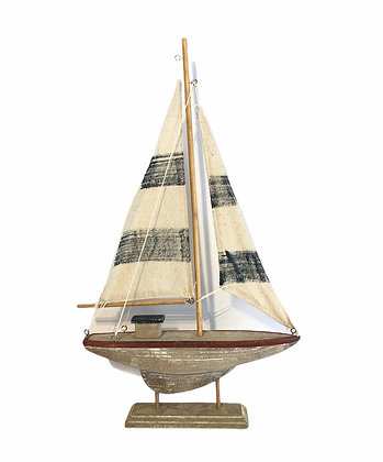 Wooden Boat on Stand