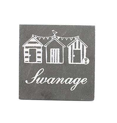 Swanage Slate Coaster
