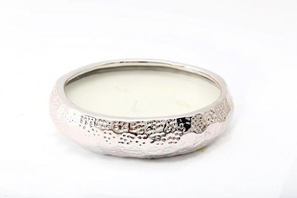 Candle In Silver Dish