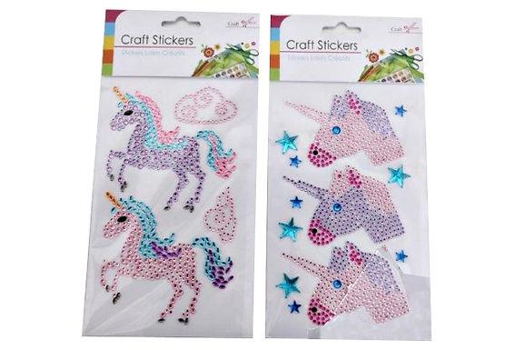 Diamante Unicorn Stickers