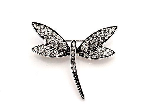 Diamante Dragonfly Brooch