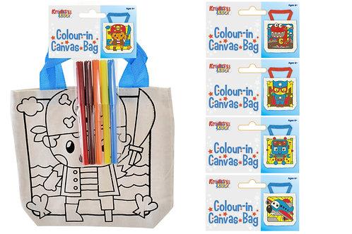Canvas Colour Your Own Bag