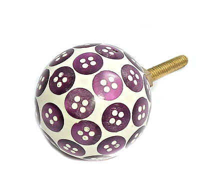 Puple Button Drawer Pull