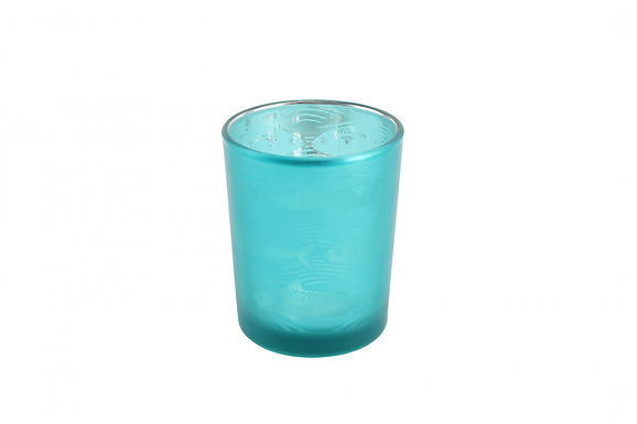Candle Holder Glass Pot Fish Design Small Harbour Turquoise Teal