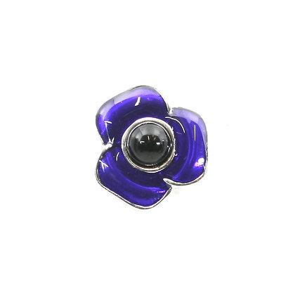 Purple Poppy Brooch