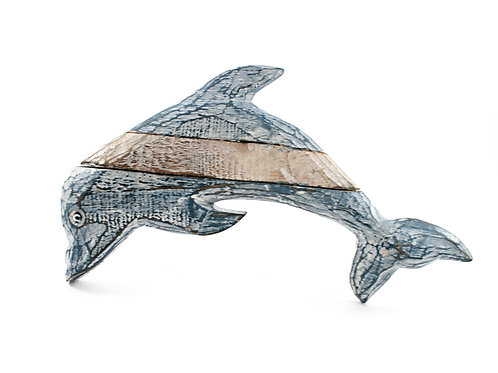 Small Wooden Dolphin Plaque