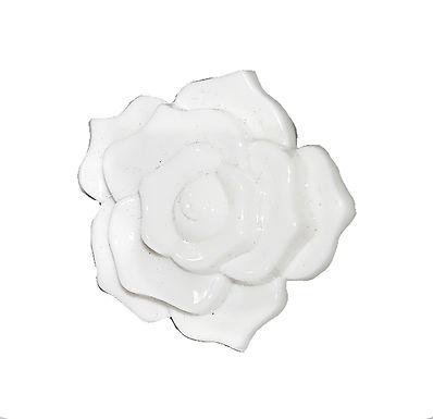 White Acrylic Rose Drawer Pull