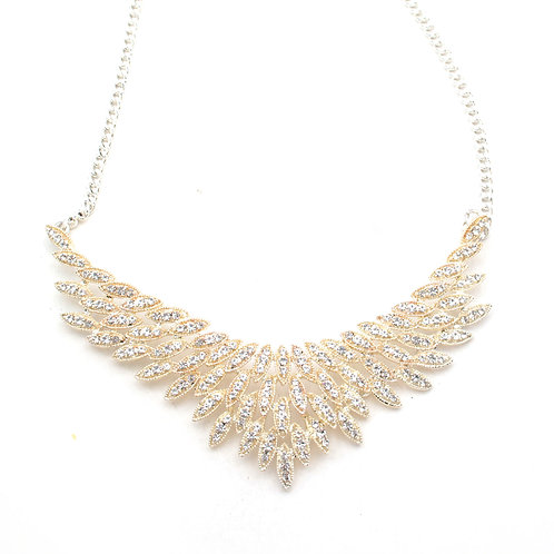 Diamante Leaf Necklace