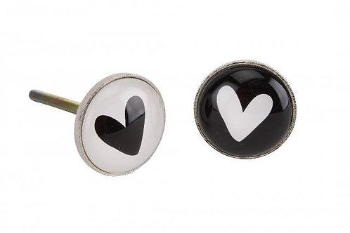 Glass Heart Drawer Pull