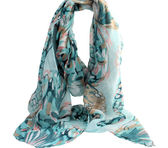 Green & Pink Floral Scarf