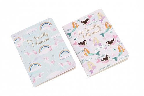 Unicorn & Mermaid Notebook