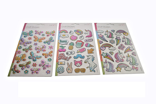 Unicorn and Butterfly Stickers