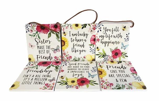 Floral Motto Plaque