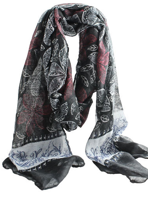 Black, Blue & Red Scarf