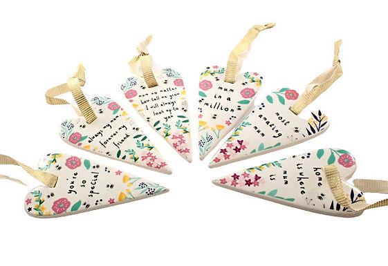 Ceramic Heart with Mum Mottos