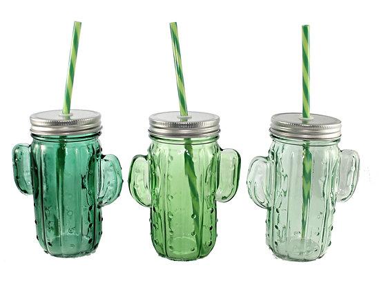 Cactus Drinking Jar
