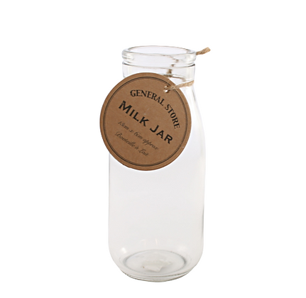 Glass Milk Jar