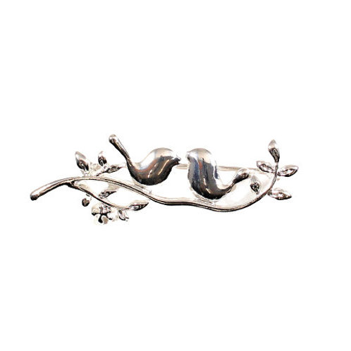 Birds on Branch Brooch