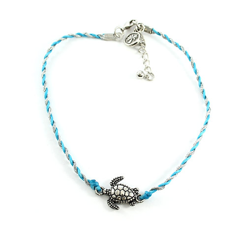 Beaded Cord Turtle Anklet