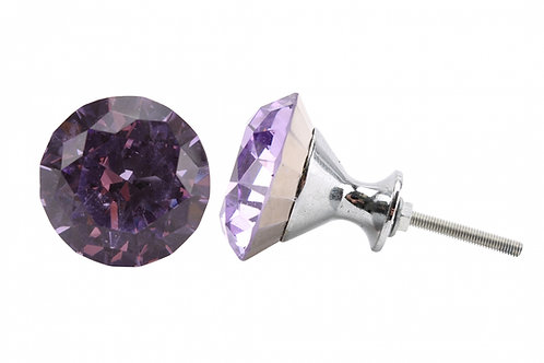 Purple Crystal Drawer Pull
