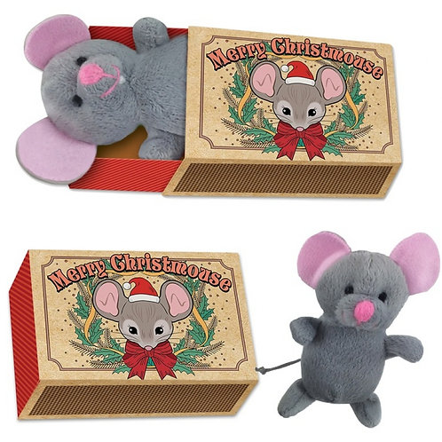Christmas Mouse In A Matchbox