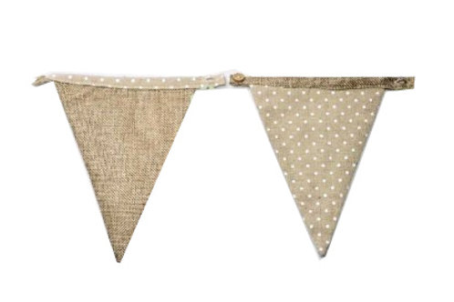 Linen Bunting Blank Flag