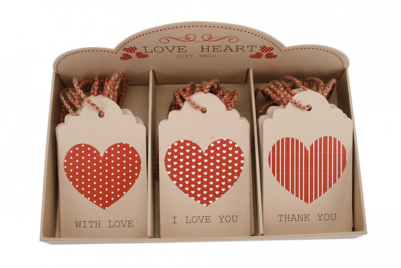 Large Heart Gift Tag
