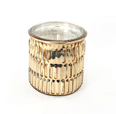 Candle In Gold Embossed Pot