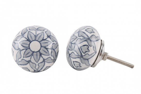Round Ceramic Painted Drawer Pull