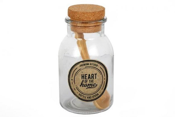 Glass Bottle with Wooden Spoon