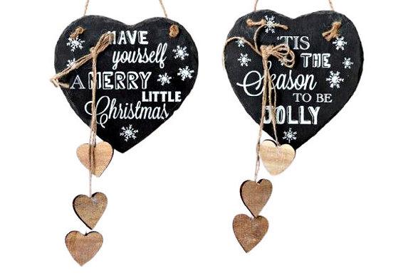 Slate Christmas Hanging Dec