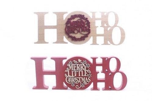 Christmas Ho Ho Ho Plaque