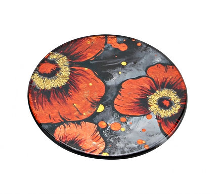 Glass Poppy Coaster
