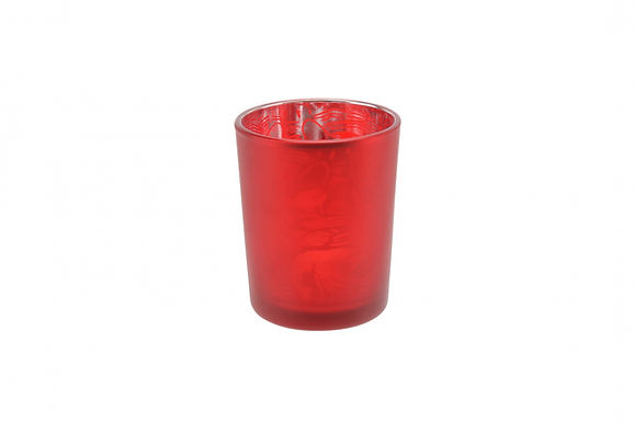 Candle Holder Glass Pot Lobster Red Small